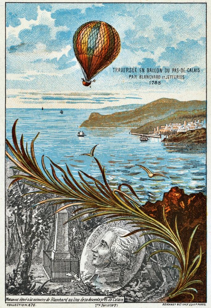 El primer viaje en globo sobre el Canal de la Mancha